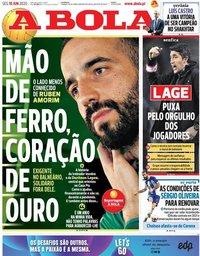 capa Jornal A Bola de 15 junho 2020
