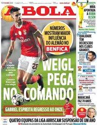 capa Jornal A Bola de 16 junho 2020