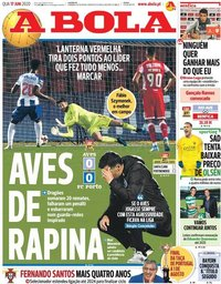 capa Jornal A Bola de 17 junho 2020