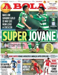 capa Jornal A Bola de 19 junho 2020