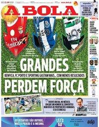 capa Jornal A Bola de 22 junho 2020
