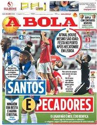 capa Jornal A Bola de 24 junho 2020