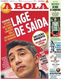 capa Jornal A Bola de 25 junho 2020