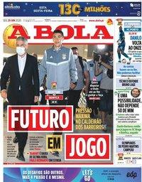 capa Jornal A Bola de 29 junho 2020