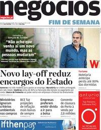 capa Jornal de Negócios de 5 junho 2020