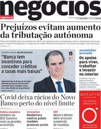 capa Jornal de Negócios de 8 junho 2020