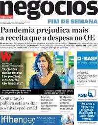 capa Jornal de Negócios de 12 junho 2020