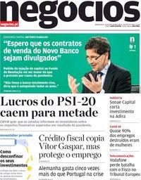 capa Jornal de Negócios de 15 junho 2020