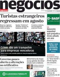 capa Jornal de Negócios de 18 junho 2020