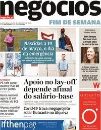 capa Jornal de Negócios de 19 junho 2020