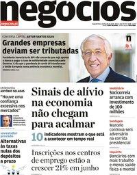 capa Jornal de Negócios de 22 junho 2020
