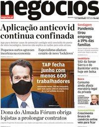 capa Jornal de Negócios de 24 junho 2020