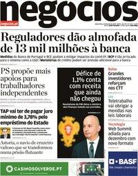capa Jornal de Negócios de 25 junho 2020