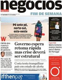 capa Jornal de Negócios de 26 junho 2020