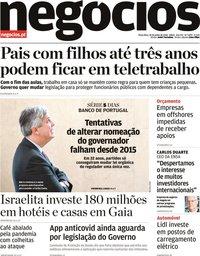 capa Jornal de Negócios de 30 junho 2020