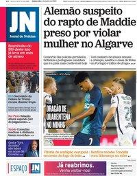 capa Jornal de Notícias de 4 junho 2020