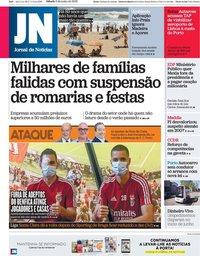 capa Jornal de Notícias de 6 junho 2020