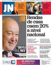 capa Jornal de Notícias de 8 junho 2020