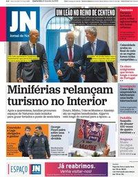 capa Jornal de Notícias de 10 junho 2020