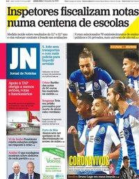capa Jornal de Notícias de 11 junho 2020