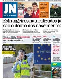 capa Jornal de Notícias de 12 junho 2020