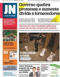 capa Jornal de Notícias de 13 junho 2020