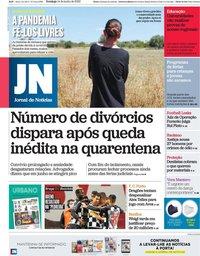 capa Jornal de Notícias de 14 junho 2020