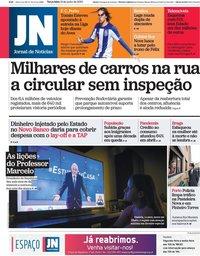 capa Jornal de Notícias de 16 junho 2020