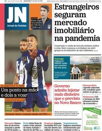 capa Jornal de Notícias de 17 junho 2020
