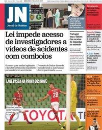 capa Jornal de Notícias de 18 junho 2020