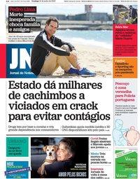 capa Jornal de Notícias de 21 junho 2020