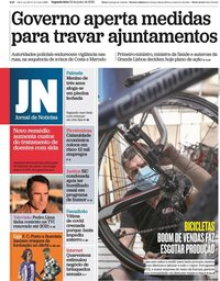 capa Jornal de Notícias de 22 junho 2020