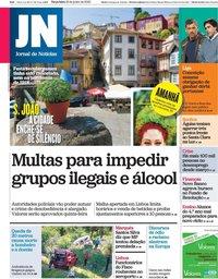 capa Jornal de Notícias de 23 junho 2020