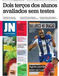 capa Jornal de Notícias de 24 junho 2020