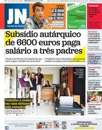capa Jornal de Notícias de 25 junho 2020