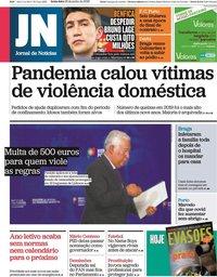 capa Jornal de Notícias de 26 junho 2020