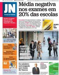 capa Jornal de Notícias de 27 junho 2020