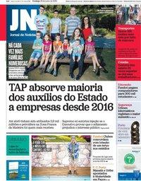 capa Jornal de Notícias de 28 junho 2020