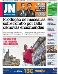 capa Jornal de Notícias de 29 junho 2020