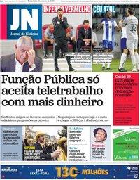 capa Jornal de Notícias de 30 junho 2020