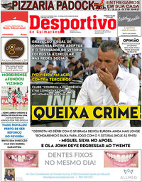 capa Jornal Desportivo de Guimarães de 30 junho 2020