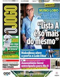 capa Jornal O Jogo de 1 junho 2020