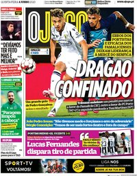 capa Jornal O Jogo de 4 junho 2020