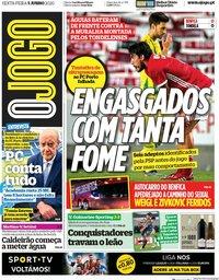capa Jornal O Jogo de 5 junho 2020