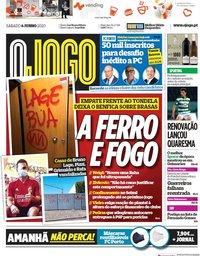 capa Jornal O Jogo de 6 junho 2020