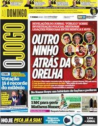 capa Jornal O Jogo de 7 junho 2020
