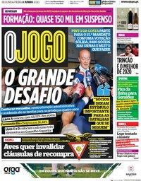capa Jornal O Jogo de 8 junho 2020