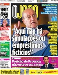 capa Jornal O Jogo de 9 junho 2020