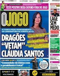 capa Jornal O Jogo de 10 junho 2020