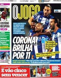 capa Jornal O Jogo de 11 junho 2020